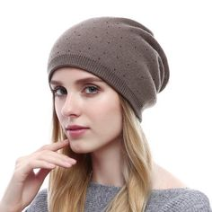 Women Winter Cashmere Soft And Smooth Knitted Hats