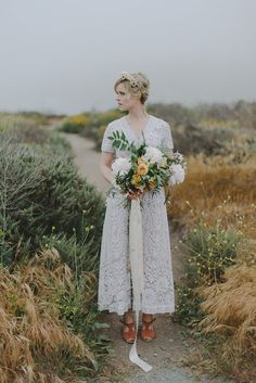 ON SALE 1960s Long Lace Wedding Gown  Boheme by WildPoppyGoods... Isn't this beautiful!  I wonder if one of  my granddaughters would like it?