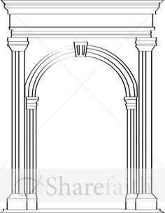 Roman, Arch, Outdoor Structures, Mirror, Garden, Image, Home Decor, Longbow, Garten