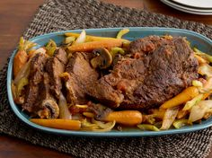 Pot Roast with Vegetables Recipe : Tyler Florence : Food Network - FoodNetwork.com Add 1/2 cup red wine