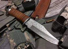 Vietnam Era Bowie Knife Damascus Small Matrix Pattern by ComeandTakeThem on Etsy