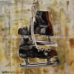 'BACK FROM THE RINK' reproduction of my original painting canvas prints from $30