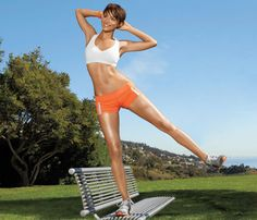 Outdoor Workout Moves, all you need is a bench