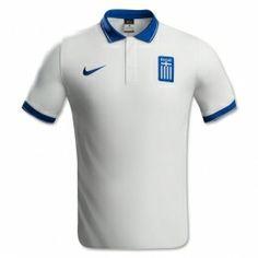 2014 Greece Home White Soccer Jersey Shirt World Cup Kits, The Empress, Online Deals, Football Jerseys, Jersey Shirt, Polo Ralph Lauren, Soccer, Mens Tops, Html