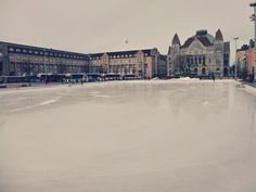 ice skating rink beside Helsinki central station (Helsinki, Finland)