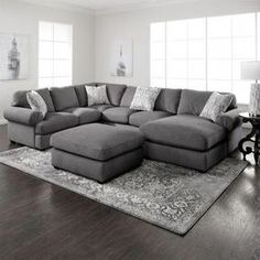 super ideas for living room grey sectional layout Living Room Color Schemes, Affordable Living Room Furniture, Living Room Sets, Grey Sectional, Living Room Designs, Couches Living Room, Living Room Grey, Living Room Sectional, Gray Sectional Living Room