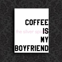 Never Enough Coffee  Funny Art Print  8x10 by TheSilverSpider, $15.00