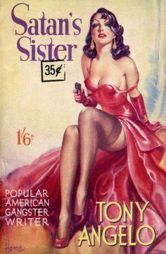 "Reginald Heade Cover Art. - Tony Angelo presents Satan's Sister. - Board ""Art-Covers-Reginald Heade"". -"