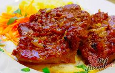 In Bacon eingewickelte Hähnchenbrustfilets Pork Meat, Meatloaf, Tandoori Chicken, Ketchup, Bacon, Bbq, Food And Drink, Low Carb, Cooking Recipes