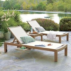 Be Inspired by the Regatta Mesh Chaise Lounge by Crate and Barrel or make your own chaise long using Phifertex.