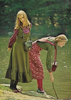 vintage seventeen magazine fashion images from the to the Seventies Fashion, 60s And 70s Fashion, Look Fashion, Teen Fashion, Retro Fashion, Vintage Fashion, Country Girl Style, Country Girls, Country Outfits