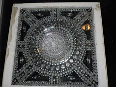Do it yourself diy ideas pinterest glass dishes repurposed an old window decorated with glass plates a glass flower and glass gems and marbles picture taken in a window at night solutioingenieria Gallery