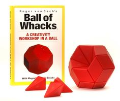Ball of Whacks -- Challenge yourself to think of creative ways to use these 30 magnetic pyramid-shaped pieces to form hundreds of designs. #STEM #gift #ideas #holiday #shopping #building