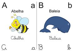 Blog Professor Zezinho : Alfabeto colorido para imprimir 1/2 oficio