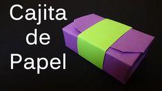 Cajita de Papel, muy fácil de hacer, con materiales sencillos.