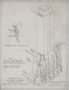 Rare Architectural Drawings For Sale - The Empire State Building