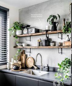 Modern Kitchen Interior Vintage Kitchen Design and Decor Ideas. Wall Decor Design, Kitchen Interior, Interior, Decor Design, Vintage Kitchen, Kitchen Remodel, Kitchen Decor, Home Kitchens, Kitchen Design