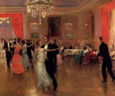 """At the ball"" (1925) de Frederick Vezin"