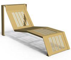 guyon transat basik mobilier outdoor mobilier exterieur / guyon basik deck chair outdoor furniture Deck Chairs, Floor Chair, Decks, Urban, Flooring, Stylish, Furniture, Design, Home Decor