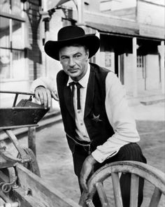HIGH NOON (1952) - Gary Cooper (pictured) - Thomas Mitchell - Lloyd Bridges - Katy Jurado - Grace Kelly - Otto Kruger - Produced by Stanley Kramer - Directed by Fred Zinneman - United Artists -