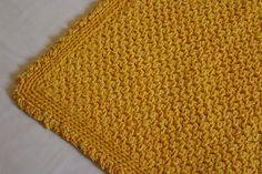 """Купить коврик вязаный прямоугольный """"Лютик"""" - желтый, вязаный коврик, прикроватный коврик, для девочки"""