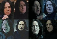 "Severus Snape (Alan Rickman) | Here's How The ""Harry Potter"" Actors Looked Like In Each Film"