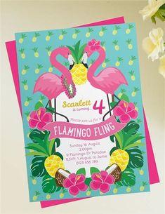 Résultat d'images pour free Printable Pink Flamingo Invitations