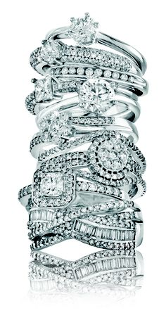 Spring Collection: Tower Of White Gold and Diamond Rings *Valid until 6 Nov 2013 Gold Diamond Rings, Spring Collection, Most Beautiful, Fine Jewelry, White Gold, Engagement Rings, Pretty, Earrings, Tower