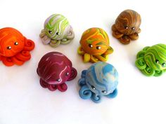 Custom  Little Octopus Choose Yours Up to Three by mulberrymoose, $8.50