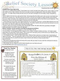 Homemaker's Journal: Relief Society Newsletter Ideas