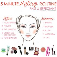5 minute makeup routine for speed & effeciancy