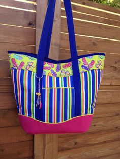 Flip Flop Beach Bag lined and by ShipCaptainandCrew on Etsy, $40.00
