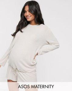 Find the best selection of ASOS DESIGN Maternity mix & match lounge super soft sweat. Shop today with free delivery and returns (Ts&Cs apply) with ASOS! Asos Maternity, Maternity Tops, Lounge, Lingerie, Mix Match, Latest Trends, Dressing, Long Sleeve, Sleeves