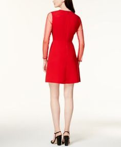 Maison Jules Illusion Shift Dress, Created for Macy's - White XXS