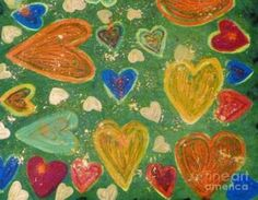 Lesley and Patrick Francis - Happy Hearts, Acrylic Painting on Canvas, Framed Prints, Canvas Prints, Acrylic Painting Canvas, Greeting Cards, Hearts, The Incredibles, Tapestry, Paintings, Happy