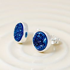 Stone Stud,Druzy Earrings,Stud Earrings,Geode Earrings,Drusy stud,Druzy stud,Gemstone earrings,bridesmaid gift,Agate Earrings