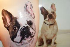 french bulldog hand painted customized mug Boston Terrier, French Bulldog, Hand Painted, Mugs, Animals, Boston Terriers, Animales, Animaux, French Bulldog Shedding