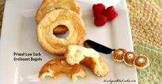 Low Carb Croissant Bagels, grain free primal / beautyandthefoodie.com THM S