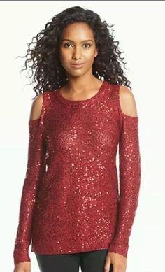 DKNYC Cold Shoulder Pullover Scarlet Size Large | eBay