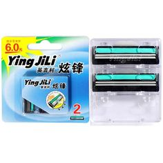 2 Pcs Ying JiLi Men Manual Safety Shaving Razor Shaver Blades