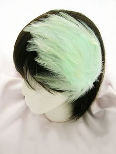 Mint Feather Fascinator