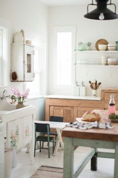 DIY Vintage Country Farmhouse Kitchen Remodel by Vintage Whites