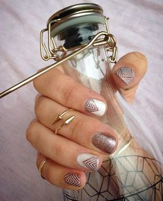 Mixing the TruShine Gels with the wraps! This combo is #copperglamjn #rosegoldsparklejn