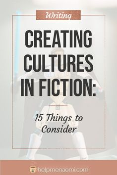 Creating cultures in fiction is an essential part of world-building. Done well, and your world (and the characters living there) will come to life. Fiction Writing Prompts, Book Writing Tips, Writing Process, Writing Resources, Writing Help, Writing Skills, Fiction Books, Writing Workshop, Writers Notebook
