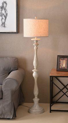Mackinaw Natural Floor Lamp Farmhouse Floor Lamps Floor Lamp Wooden Floor Lamps