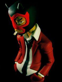 Dark Mask, Toy Art, Designer Toys, Wood Toys, Diy Toys, Puppets, Iron Man, Smoking, Resin