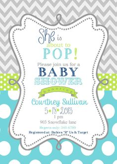 Boys Baby Shower Invitations Digital or printable by noteablechic, $10.00