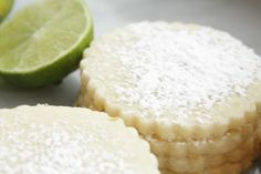 Key Lime Shortbread Cookies- i think i would love these!!!!