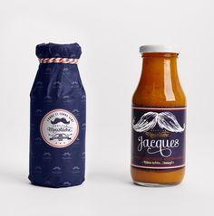 Monsieur Moustache mustard bottle / designed by Studio Chapeaux