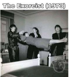 Paul Mccartney Ringo Starr, The Quarrymen, The Exorcist 1973, Beatles Funny, Beatles Photos, Old Memes, Gretsch, Bob Dylan, Haha Funny